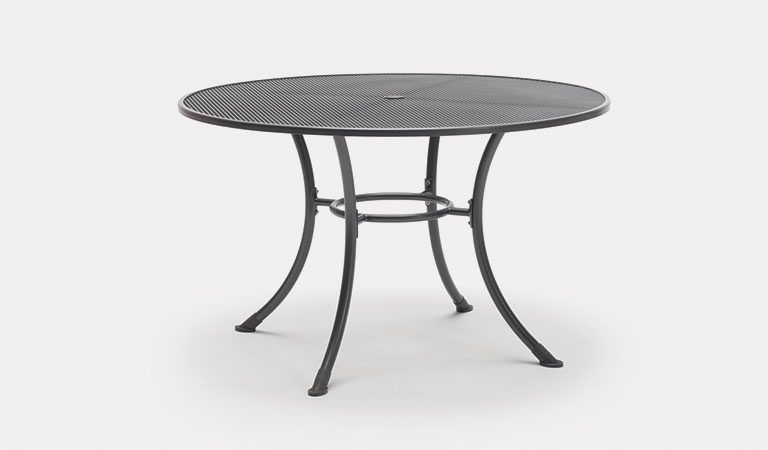 135cm Round Mesh table from KETTLER's Classic Garden furniture range on a grey background.