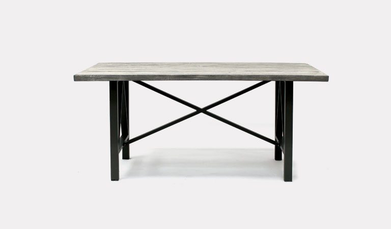 Bretagne 180x100cm dining table from KETTLER's Classic Garden furniture range on a grey background.
