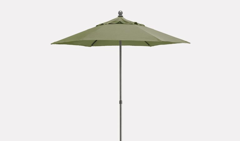 2.3m Push-up Parasol on a grey background.