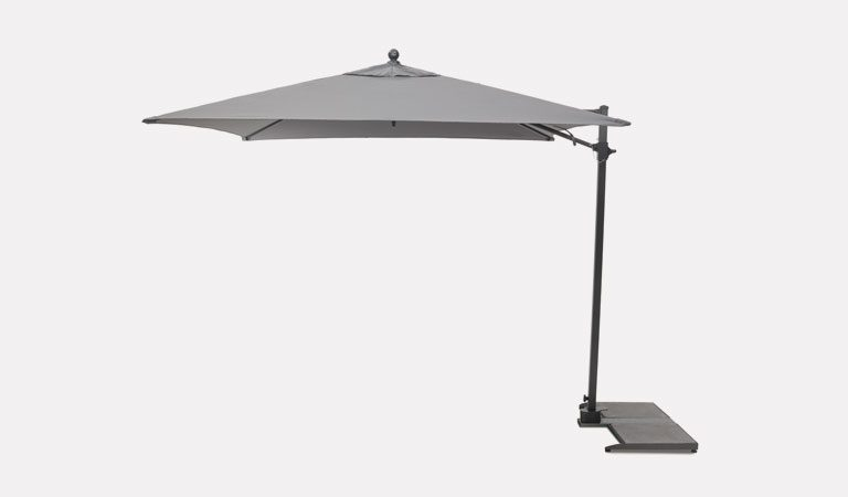 2.5m Free Arm Parasol on a grey background.