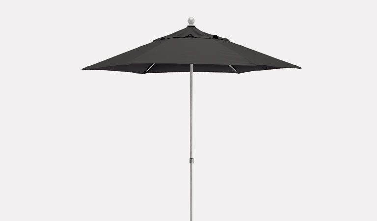2.5m Wind-up Parasol on a grey background.