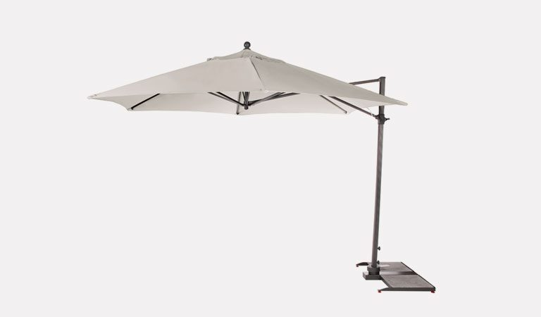 3.5m Free Arm Parasol for KETTLER's Casual Dining garden furniture range on a grey background.
