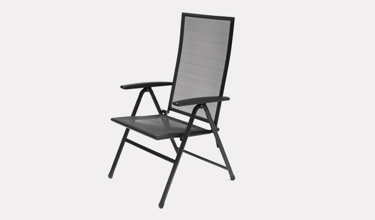 Henley Multi-Position Chair in Iron Grey in upright postion