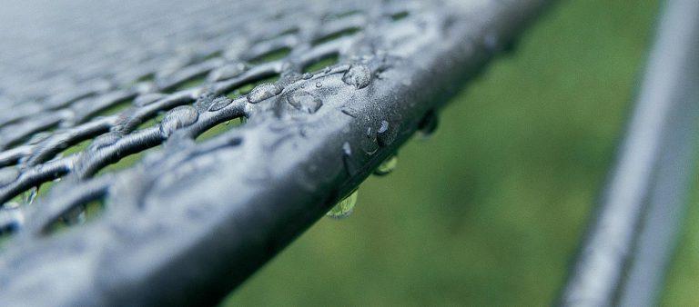 Thermoguard coating in metal mesh furniture