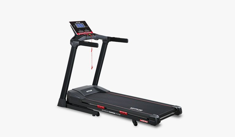 The Arena Treadmill from KETTLER's fitness range on a grey background.