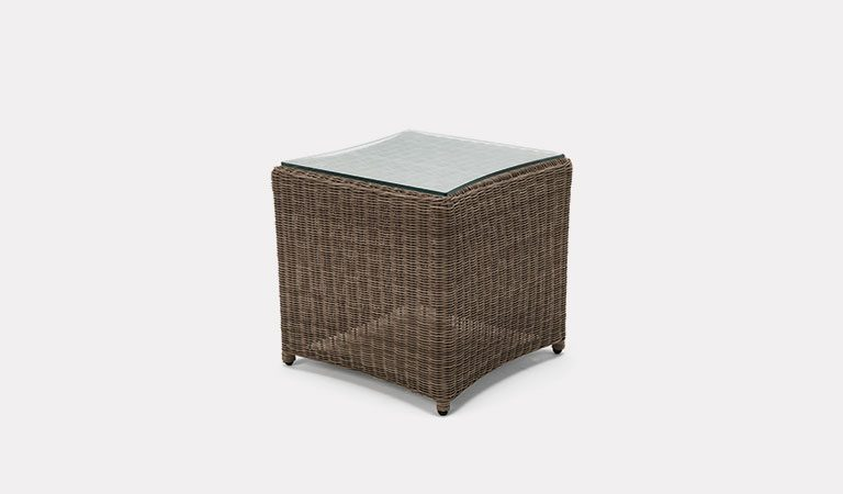 Banaba 45x45cm Side table from KETTLER's Classic Garden furniture range on a grey background.