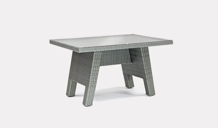 Caleta 120x80cm table from KETTLER's Casual Dining Garden furniture range on a grey background.