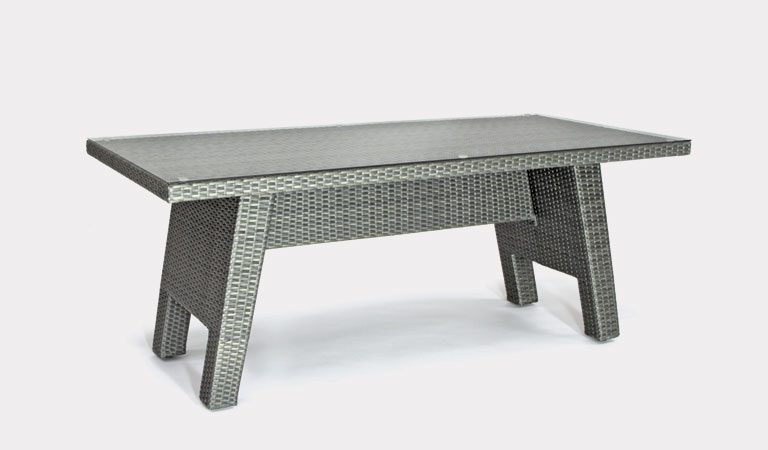 Caleta 170x80cm table from KETTLER's Casual Dining Garden furniture range on a grey background.