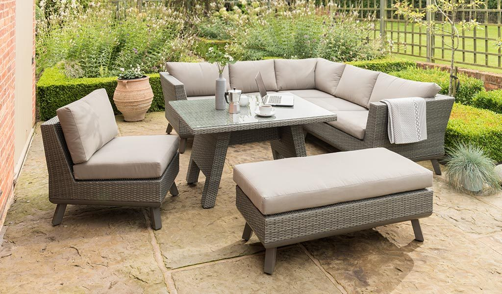 Caleta Modular Corner Set from KETTLER's Casual Dining range in a Garden