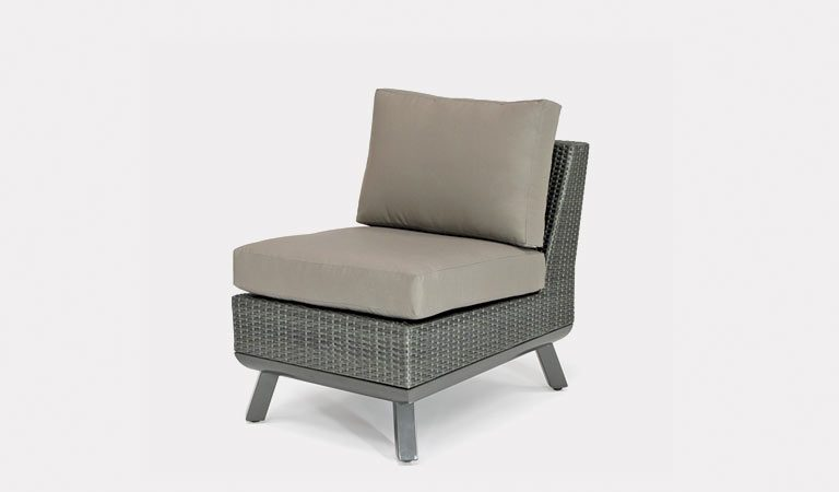 The Caleta Side Chair from KETTLER's Casual Dining Garden furniture range on a grey background.