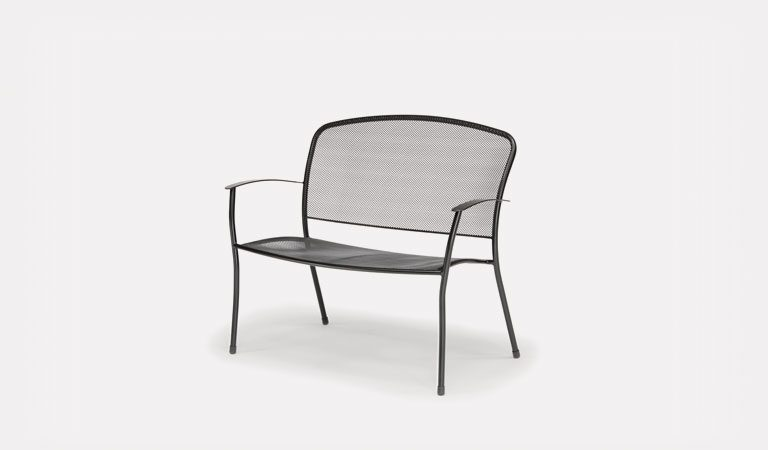 The Caredo Bench from KETTLER's Classic Garden furniture range on a grey background.