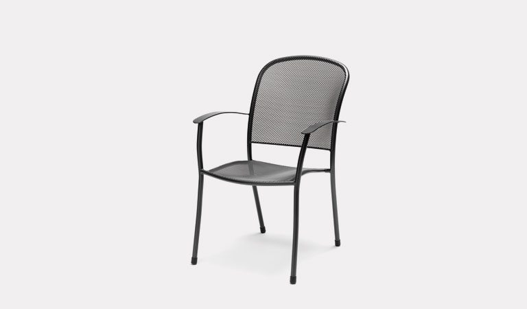 The Caredo Chair from KETTLER's Mesh Garden furniture range on a grey background.