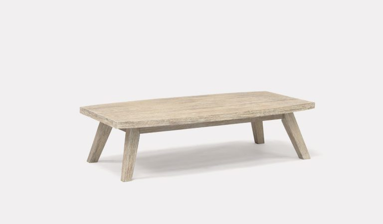 Cora Coffee table from KETTLER's Elegance Garden furniture range on a grey background.