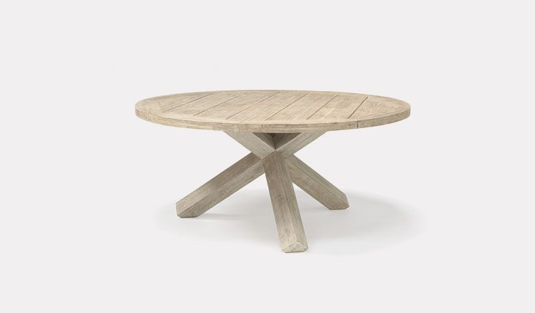 Cora 150cm round table from KETTLER's Elegance Garden furniture range on a grey background.