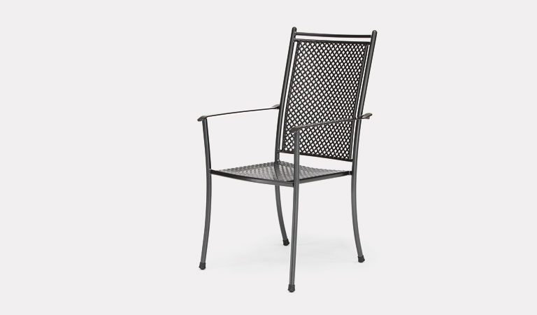 The Cortona Armchair from KETTLER's Mesh Garden furniture range on a grey background.