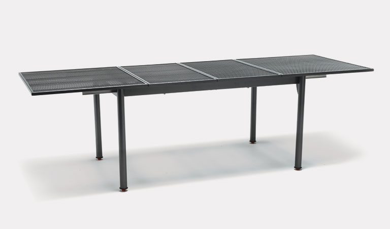 Extending mesh loft table from KETTLER's Classic Garden furniture range on a grey background.