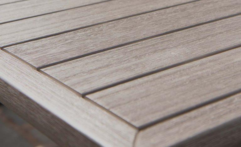 Acacia Wood Table detail.