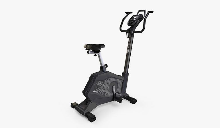 The Golf S4 Exercise Bike from KETTLER's fitness range on a grey background.