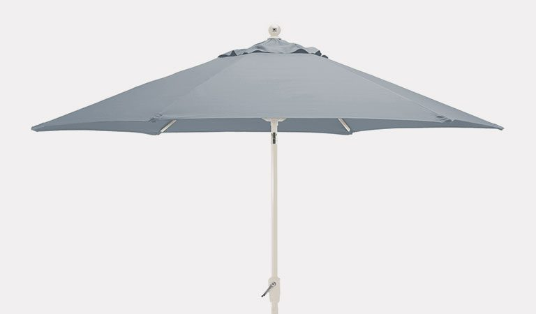 2.9m Wind up Parasol on a grey background.