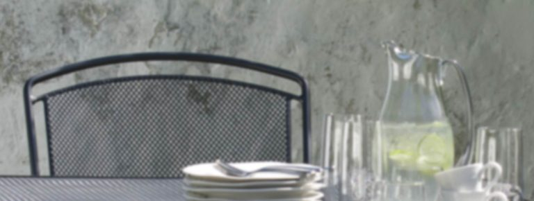 Detail of a Henley Chair in Iron Grey.