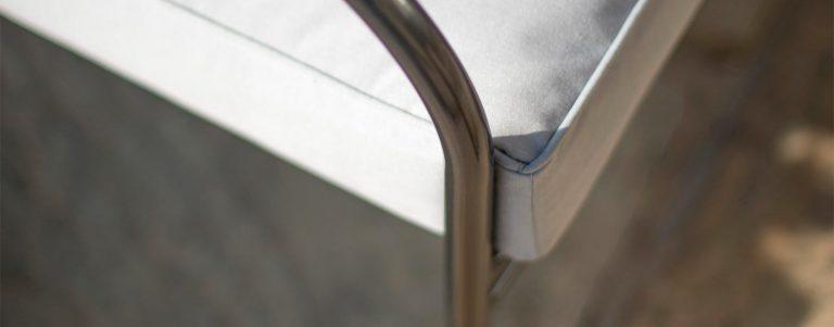 Detail of the Iron Grey Henley Corner Set.