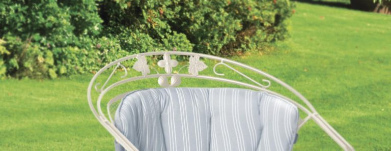 Ivy leaf detail of the of the Henley Round back chair.