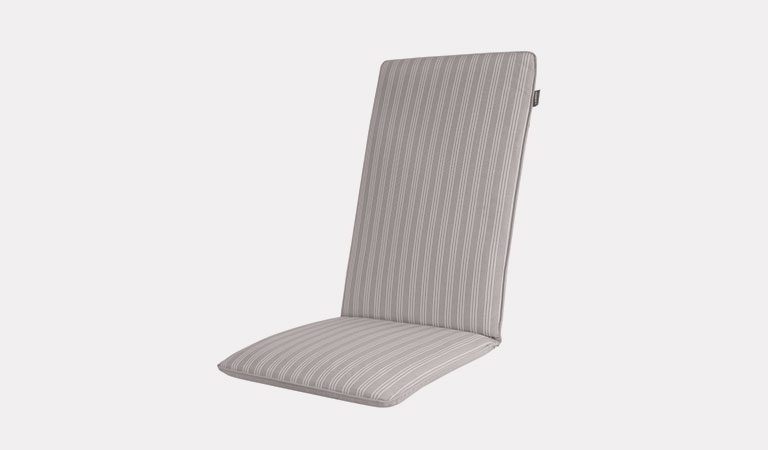 Henley Multi-Position Chair Cushion in French Grey on a grey background.