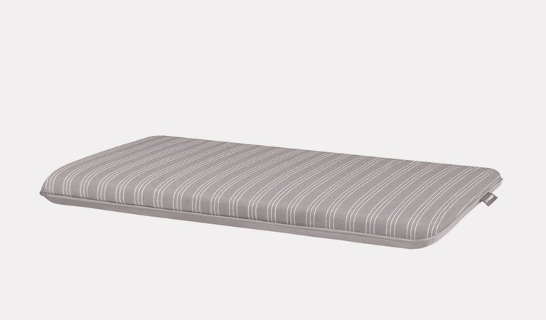 Henley Twinseat Seat Pad in French Grey on a grey background.
