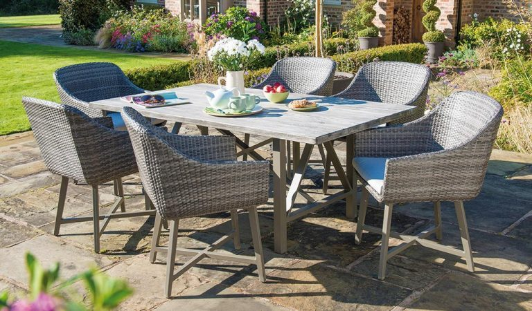 LaMode Dining Set from KETTLER's Elegance range on a patio