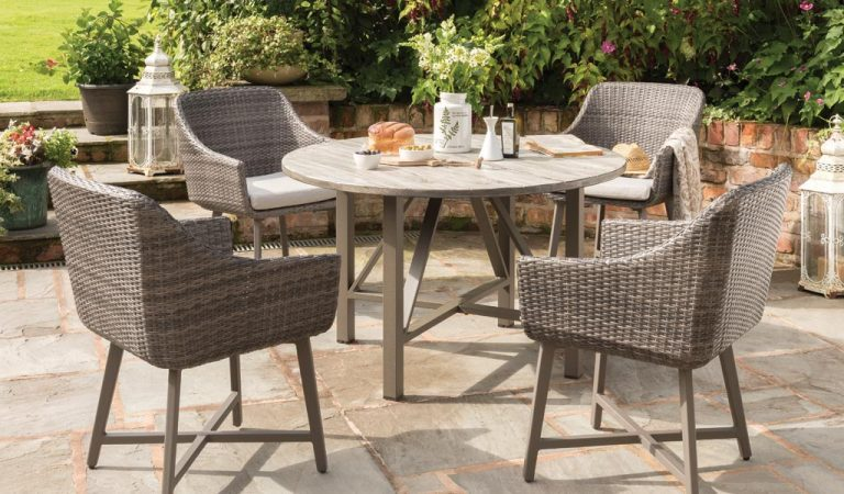 LaMode 4 seater garden furniture set