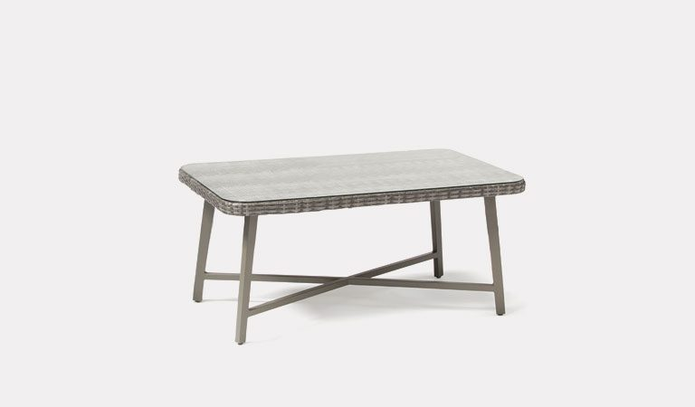 LaMode Large Coffee Table from KETTLER's Elegance garden furniture range on a grey background.