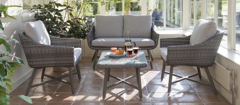 LaMode Lounge Set from KETTLER's Garden Furniture range in a conservatory