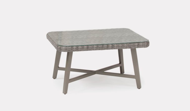 LaMode Small Coffee Table from KETTLER's Elegance garden furniture range on a grey background.