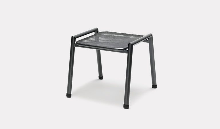 The Novero Foot Stool / Side table from KETTLER's Classic Garden furniture range on a grey background.
