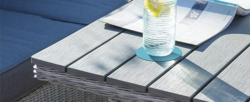Palma Slat Top Table Detail