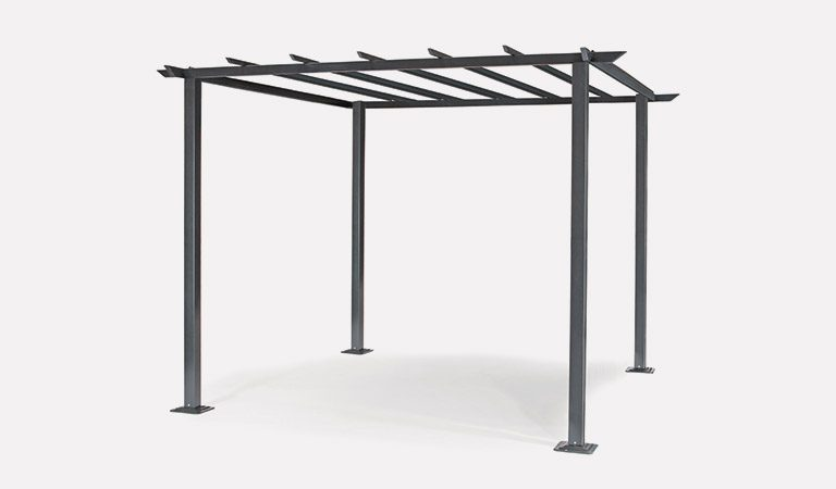 The Panalsol 3x3m Frame from Kettler Garden Furniture on a grey background.