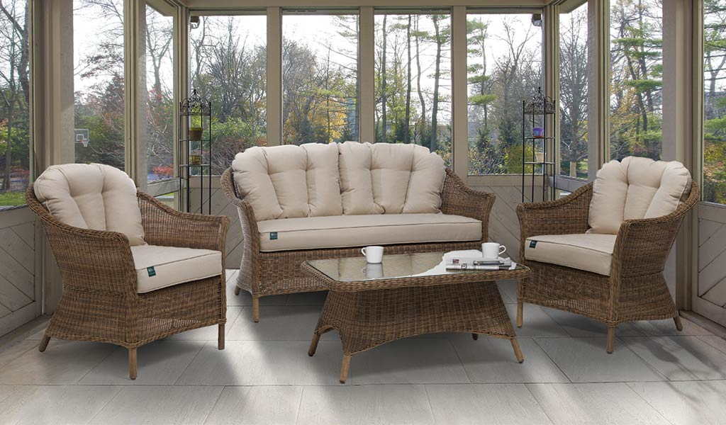 RHS Harlow Carr Lounge Set from the RHS by KETTLER Garden furniture range in a conservatory