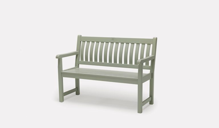 Rosemoor 4ft Bench from the RHS by KETTLER garden furniture range on a grey background.