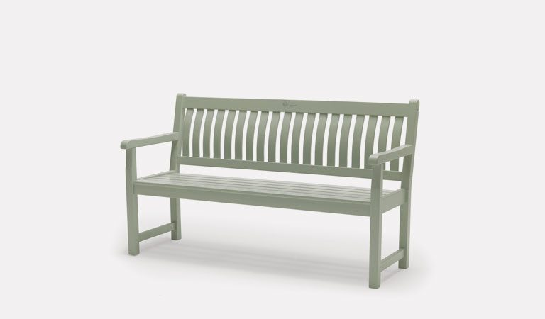 Rosemoor 5ft Bench from the RHS by KETTLER garden furniture range on a grey background.
