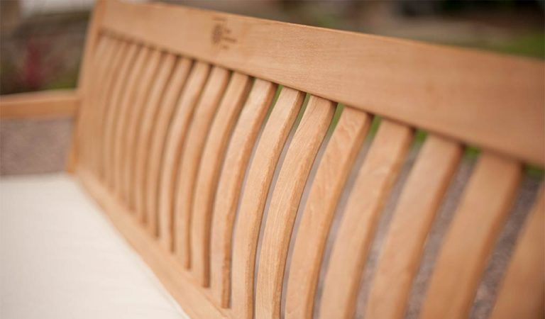 Detail of the Wisley 5ft Bench from the RHS by KETTLER garden furniture range.