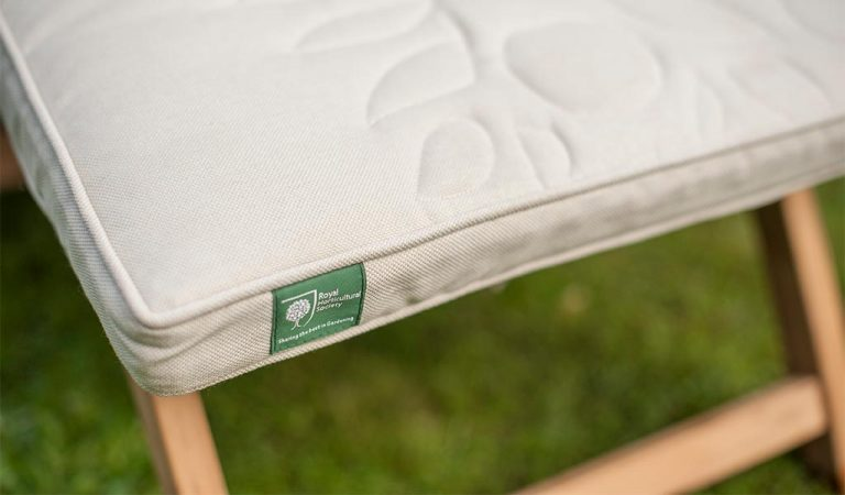 Detail of the Wisley Steamer from the RHS by KETTLER garden furniture range.