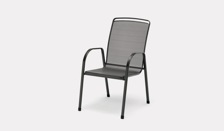 The Savita Dining Chair from KETTLER's Mesh Garden furniture range on a grey background.