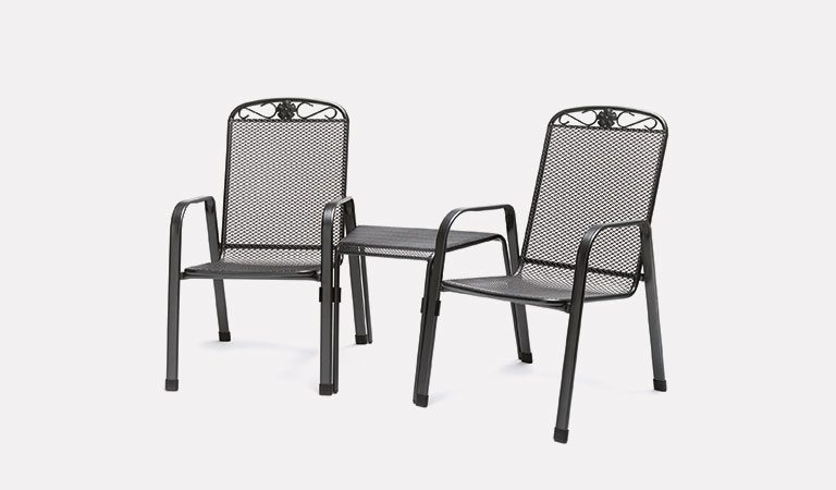 The Siena Companion Set from KETTLER's Classic Garden furniture range on a grey background.