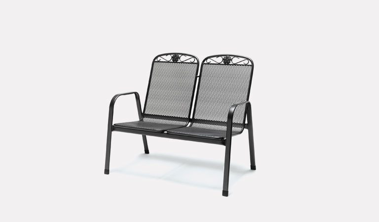 The Siena Twinseat from KETTLER's Classic Garden furniture range on a grey background.