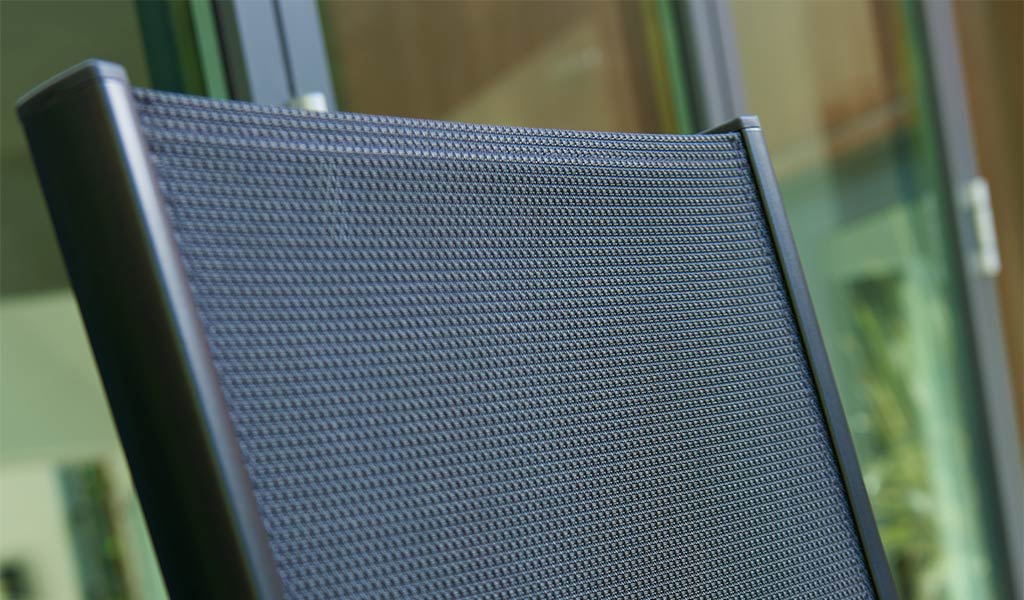 Textilene detail of a Surf Chair from KETTLER's Classic garden furniture range.