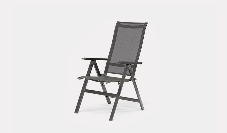The Surf Multi-Position Recliner Chair from KETTLER's Classic Garden furniture range on a grey background.