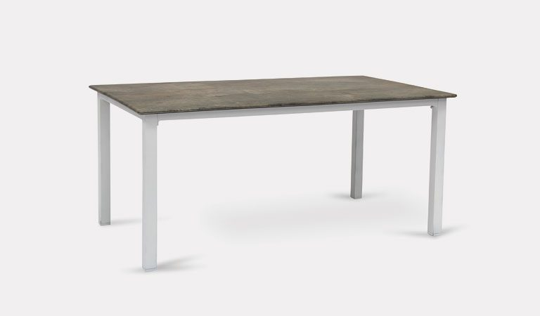 Treviso 160x90cm table from KETTLER's Classic Garden furniture range on a grey background.