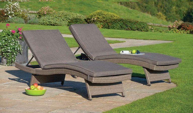 Two universal wicker Lounger in Rattan from KETTLER's Classic garden furniture range.