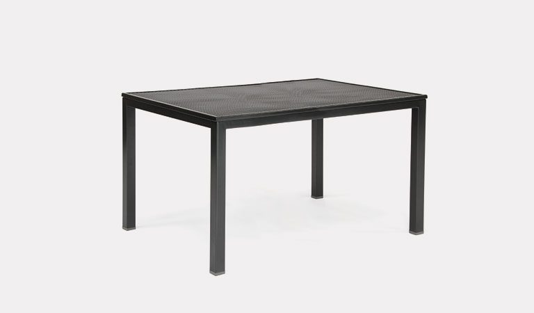 160x90cm mesh loft table from KETTLER's Classic Garden furniture range on a grey background.