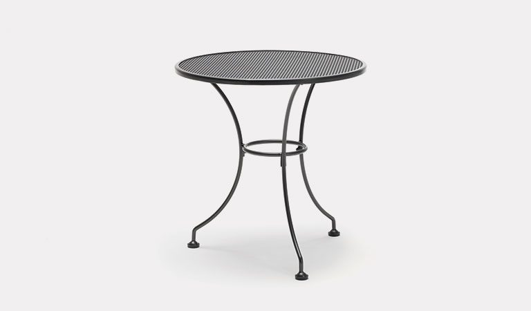 70cm Round Mesh table from KETTLER's Classic Garden furniture range on a grey background.